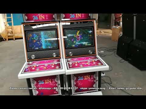 2p upright fishing game machine for sale, arcade  fish gambling cbainet