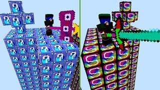 ILHA DE VIDEOGAME vs ILHA DE ÁGUA! (ILHA LUCKY BLOCK MINECRAFT)
