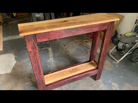 DIY Pallet Wood Console Table 2.0