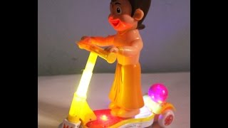 CHOTA BHEEM RIDING ON SCOOTER MUSIC & LIGHT BATTERY OPERATED GIFT TOY FOR KIDS