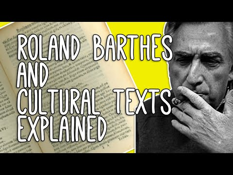 Literary Texts: WTF? Introduction To Cultural Texts And Roland Barthes' From Work To Text