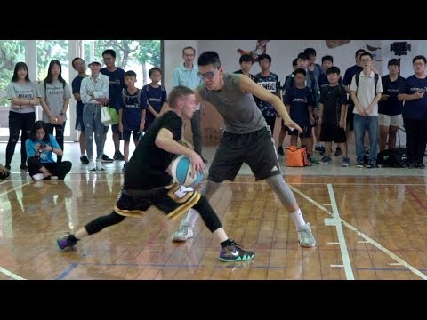 The Professor vs 6'8' 18yr Old.. Crazy Combos, 5v5 vs campers
