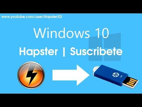 Descargar Video Grabar la iso de windows 10 en una usb o una tarjeta de memoria booteable!!