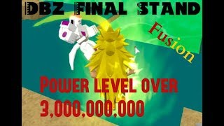 Roblox - Dbz Final Stand. We merged to fight Frieza?