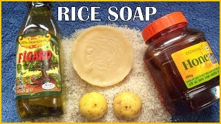 Homemade Soap For Skin Whitening|get fair skin fast with rice flour soap|Look 10 year younger