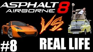 Asphalt 8 VS Real Life 8