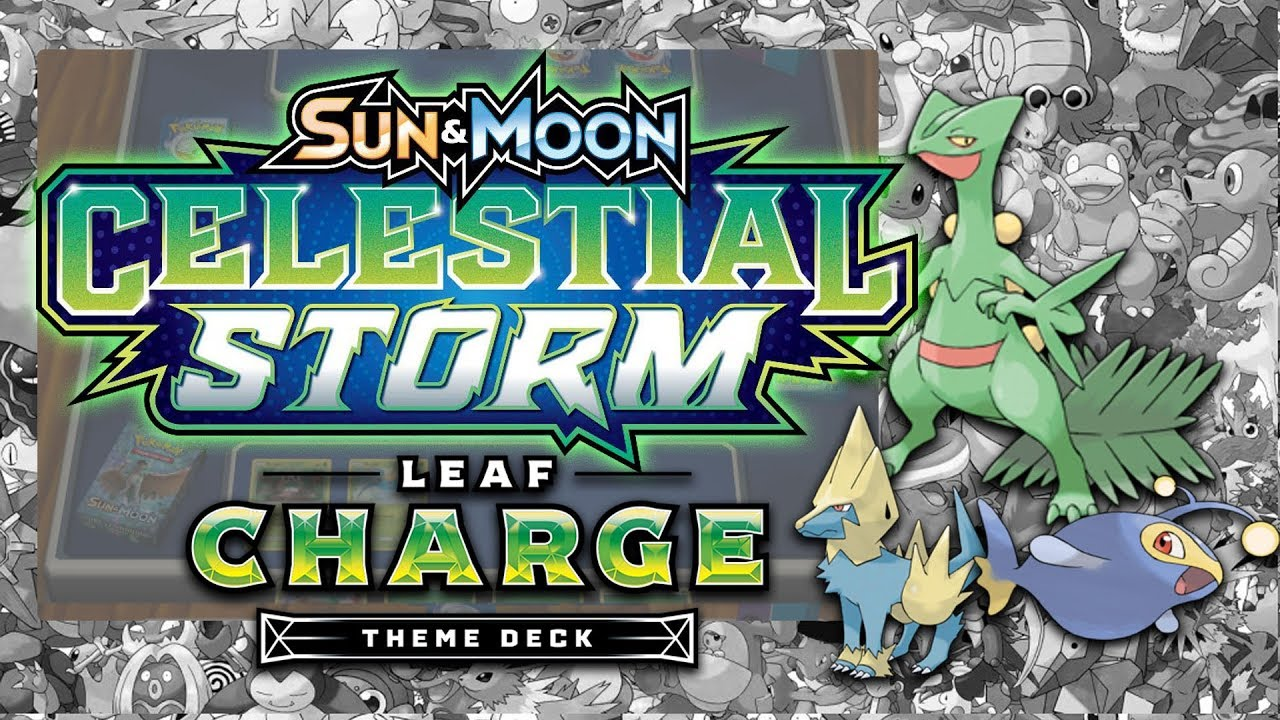 Pokemon Sun /& Moon Celestial Storm Theme Card Deck HYDRO FURY Swampert GX