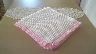 Repeat youtube video Manta para bebé en crochet o ganchillo