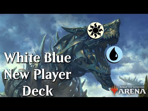 MTG Arena Beta | Upgraded New Player White-Blue DeckTech & Gameplay 6/15 [Historic]