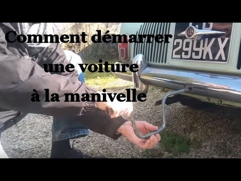 tuto comment d marrer une voiture la manivelle youtube. Black Bedroom Furniture Sets. Home Design Ideas