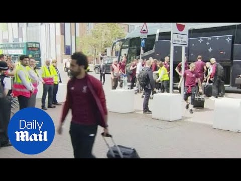 Liverpool FC arrive for Champions League Final in Ukraine - Daily Mail