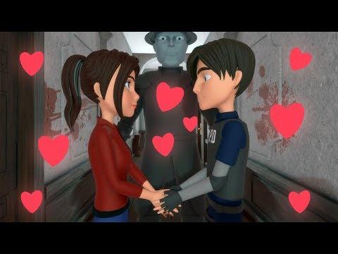 kartun horor lucu - Resident Evil 2 Parody Animation