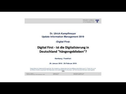 """[DE] """"Digital First""""   Dr. Ulrich Kampffmeyer   Update IM 2019   Hamburg"""