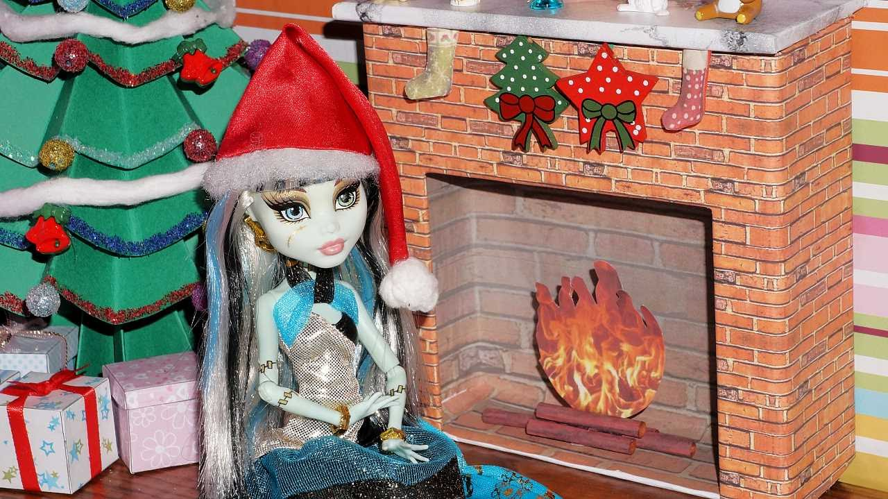 How to make a doll fireplace (Monster High, EAH, Barbie, etc ...