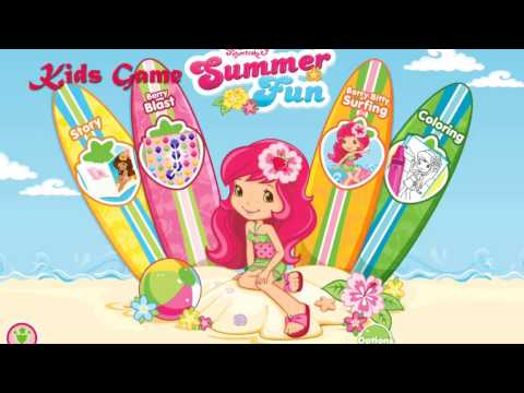 Strawberry Shortcake Summer Berry Bitty Surfing for Android and iPhone Apps for Kids Game