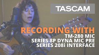 Video: Microfono Studio Tascam Tm-280