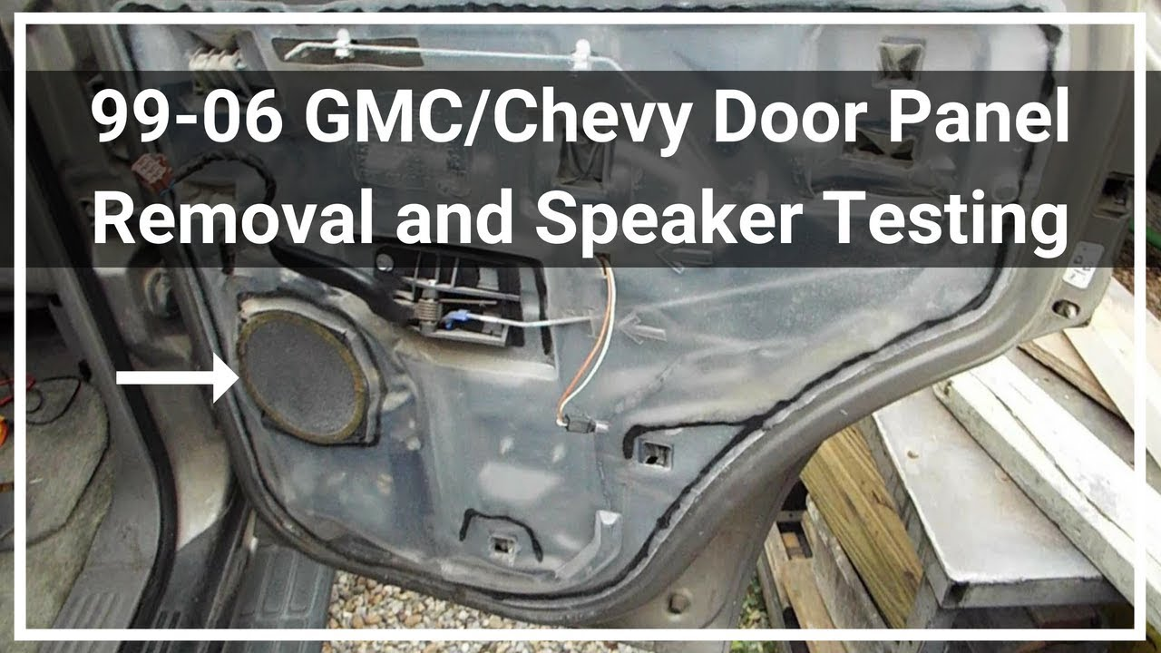 2002 Gmc Yukon Rear Door Speaker Removal And Testing Youtube
