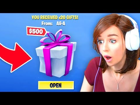 GIFTING Fortnite Skins To My FIANCÉ! (NEW)