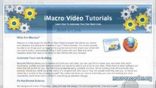 iMacros Video Tutorials