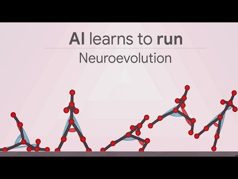 AI learning to walk and run with neuroevolution and deep learning