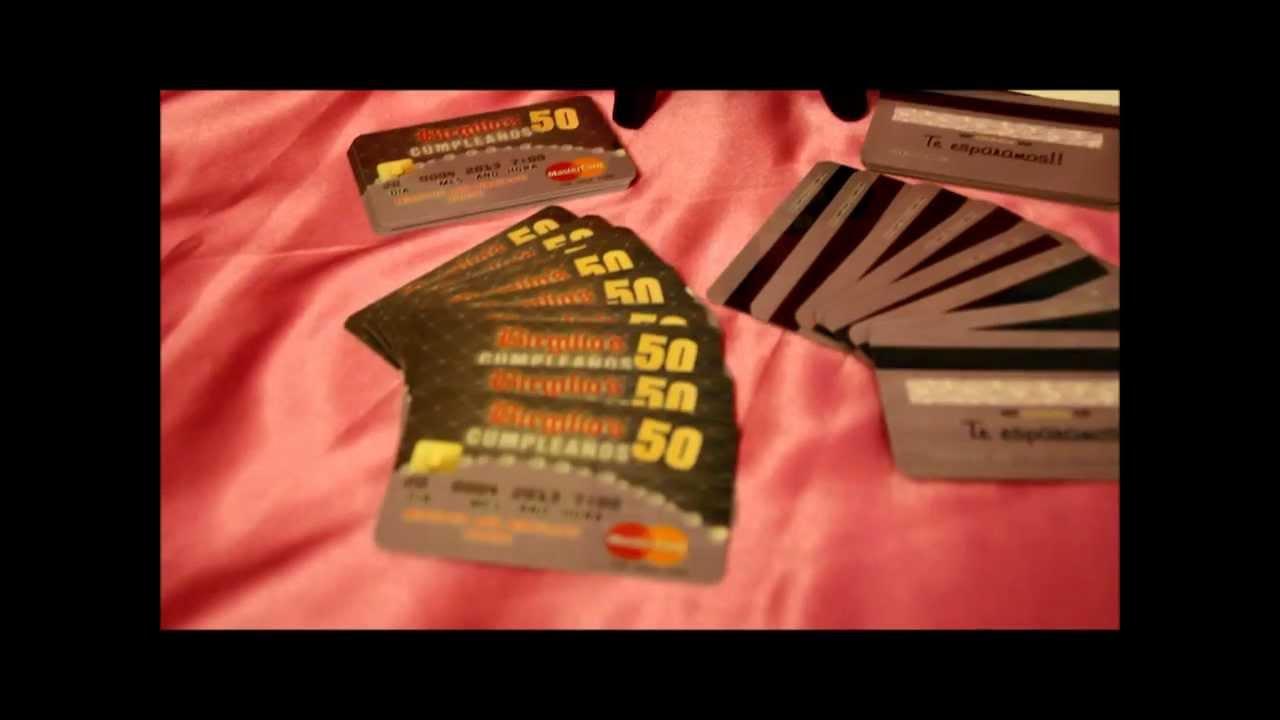 50th Birthday Invitations Custom Credit Card Invites, Invitaciones ...