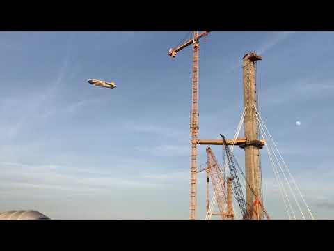 Goodyear Blimp Visits Bridge Project