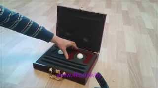 Подарочный набор для мини-гольфа в деревянном кейсе