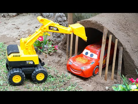 Helicopter Police & Mcqueen Cars | Bridge Toy Vehicles, Dump Trucks Building Blocks Toys for Kids