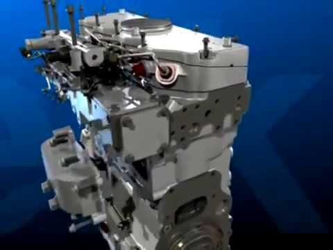 Diesel Engine 3D Assembly and Running Animation