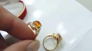 Nhẫn sapphire vàng, nhẫn nư saphia vàng, nhẫn sapphire thiên nhiên