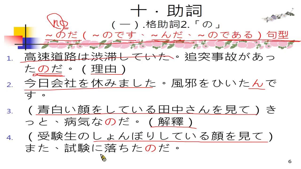 G049日語文法:十助詞(一)格助詞「の」 - YouTube