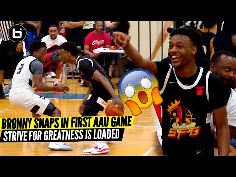Download Bronny James Goes Off In FIRST AAU Game of 2021! Strive For Greatness Is Loaded!