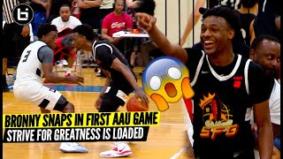 Bronny James Goes Off In FIRST AAU Game of 2021 Strive For Greatness Is Loaded