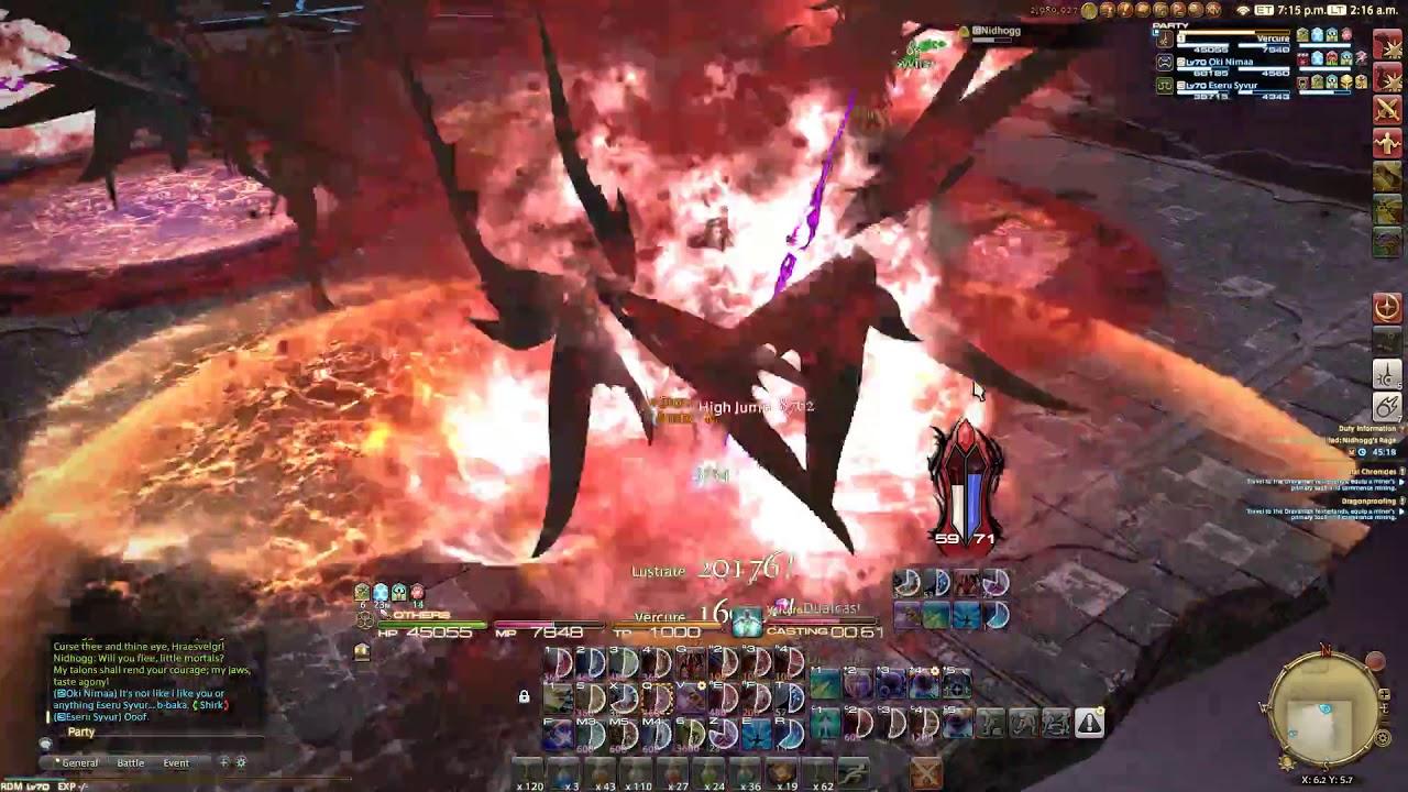 FFXIV- Nidhogg Extreme 3 Man Kill(RDM PoV)