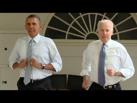 WATCH : Obama and Biden The White House 'Workout' VIDEO : #LetsMove