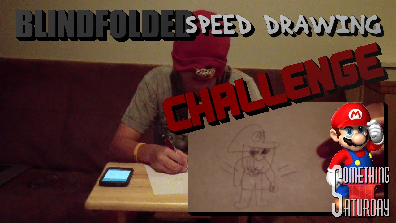 Blindfolded Speed Drawing Challenge Video Game