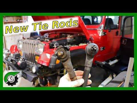 Wrecked Tie Rods! How to replace tie rods Jeep Wrangler: Project Fungus