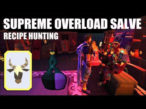 Runescape: Supreme Overload Salve Unlocked! Recipe Hunting (Consistent Yak Card)