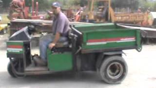 Sold! Cushman Turf-Truckster 3 Wheel Gas Powered Hydraulic Dump bidadoo.com