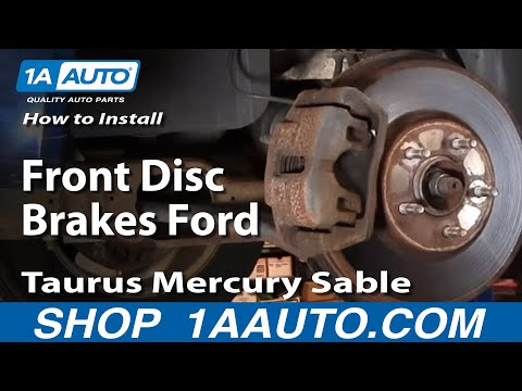 How To Install Replace Front Disc Brakes Ford Taurus Mercury Sable 01-07 1AAuto.com