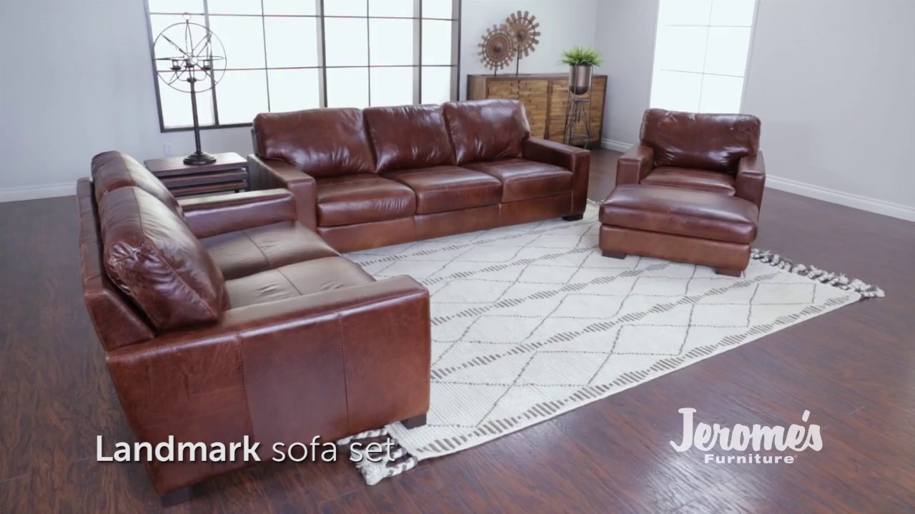Jerome S Furniture Landmark Leather Sofa Youtube