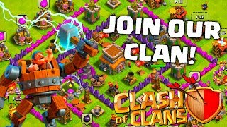 CLASH OF CLANS! JOIN OUR CLAN! SHOUT OUTS!