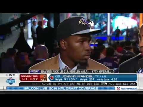 Ravens No. 17 pick C.J. Mosley meets the press