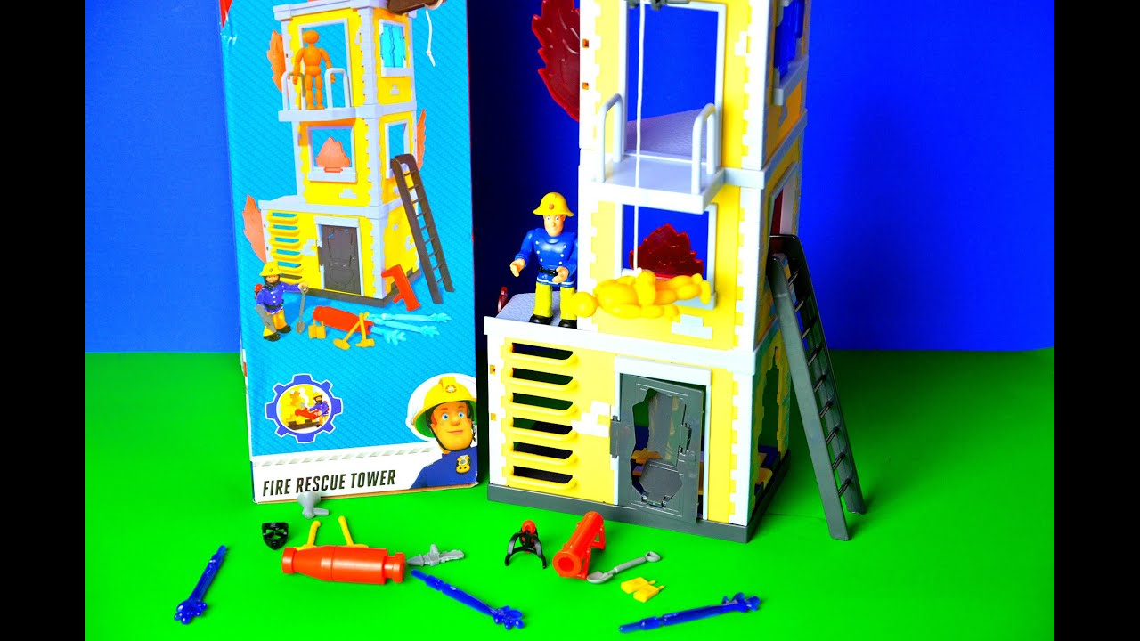Brandweerman Sam Garage : New fireman sam rescue tower play set toy review pontypandy