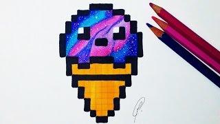 Kawaii Ice Cream Pixel Art Galaxy Drawing Kharasach Latest