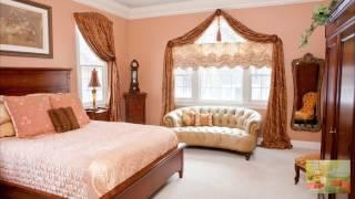 видео Персиковые шторы в спальню и для кухни