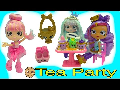 Gemma Stone Tea Party with Shoppies Doll Kirstea and Pirouetta + Exclusive Shopkins