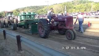 ANTIQUE TRACTOR PULLING FRANKLIN COUNTY INDIANA  ANTIQUE MACHINERY SHOW THURSDAY NIGHT SPET 24, 2015
