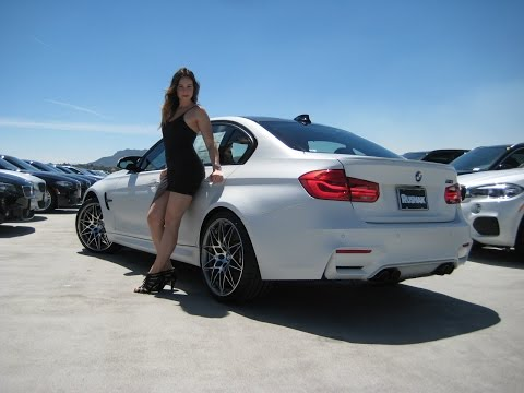"New BMW M3 Frozen White Metallic / Exhaust Sound / 20"" M Wheels / BMW Review"