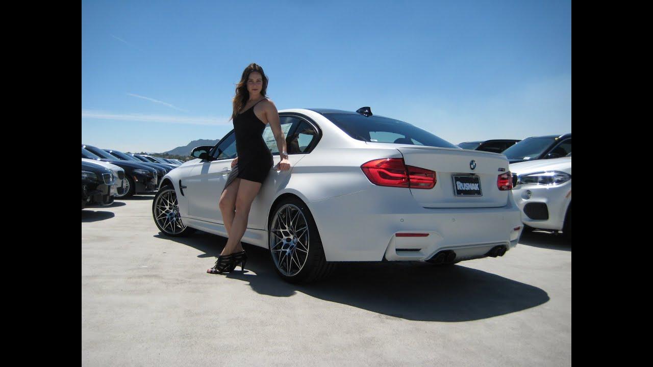 """New BMW M3 Frozen White Metallic / Exhaust Sound / 20"""" M ..."""